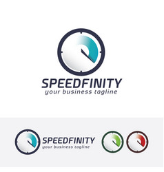 speed infinity logo design vector image