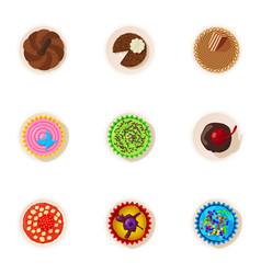 sweet sprinkles icons set cartoon style vector image