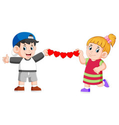 They are holding continued love made paper vector