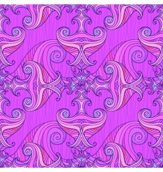 Violet waves seamless background vector image vector image