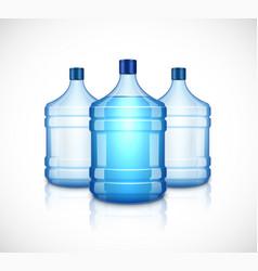 water bottle large plastic big blue vector image