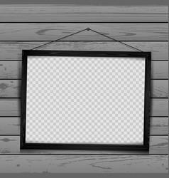 wooden black frame wood background vector image