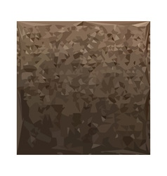 Antique brass camo abstract low polygon background vector