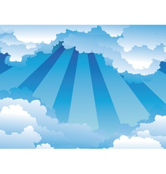 Blue Sky with Clouds4 vector image