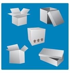 Cardboard Box Set vector image