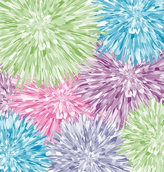 Colorful dandelions stylized watercolor abstract vector image