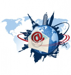 global email concept vector image vector image