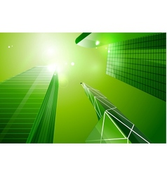 Green eco business city background vector image vector image