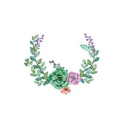 Flower wedding decoration vector