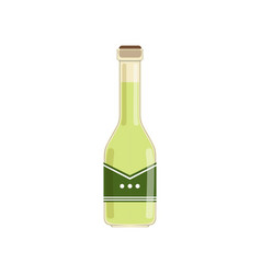 fresh olive oil in glass bottle green liquid in vector image vector image