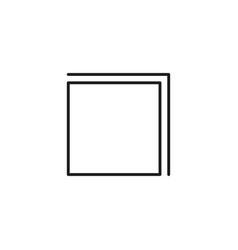 layer icon vector image