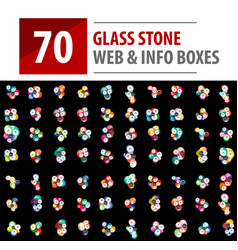 Mega collection of glass stones vector