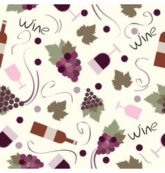 Seamless pattern vintage wine vector image vector image