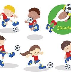 Soccerteam 02 vector image