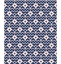 Blue seamless geometric pattern vector image