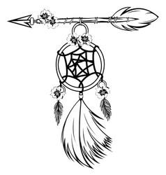 dream catcher with arrow vector image