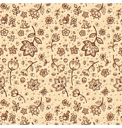 Hand-drawing flower pattern vector image vector image