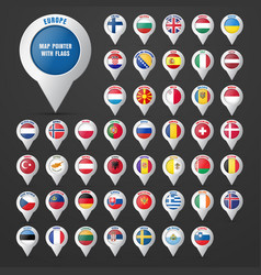 set the pointer to the map with the european vector image