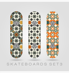 Skateboard set girly tracery vector
