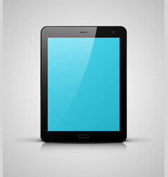 black tablet pc with blue screen vector image vector image