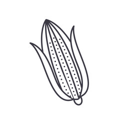 corn line icon sign on vector image vector image
