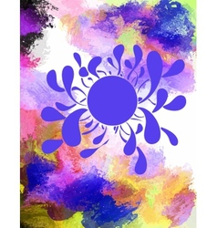 Poster templates with paint splash vector image vector image