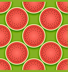 seamless watermelon pattern vector image vector image