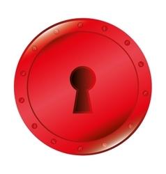 symbol lock love icon graphic vector image