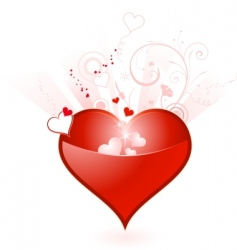 Valentine's Day heart vector image vector image