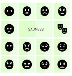 14 sadness icons vector