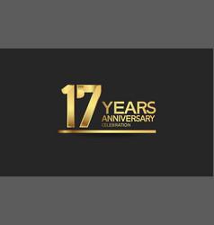 17 years anniversary celebration with elegant vector
