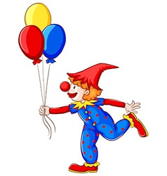 A clown with balloons vector image