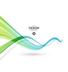 Abstract blue color wave design element blue vector