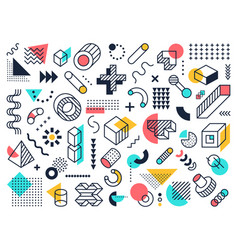 Abstract geometric shapes circle and triangle vector