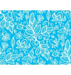 Abstract ornate shining flower seamless pattern vector image