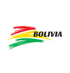 abstract shapes in colors bolivia flag vector image