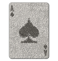ace spades mosaic vector image