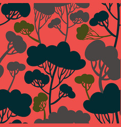 beautiful and stylish stylized trees vector image