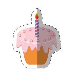 birthday cake candle sweet vector image