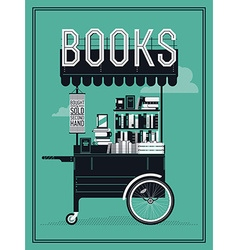 Book Cart vector