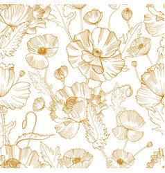 Botanical seamless pattern with gorgeous blooming vector