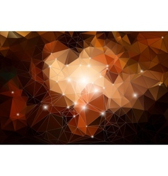 brown polygonal Abstract shiny background vector image
