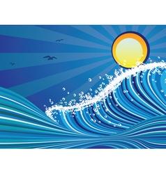 Cartoon Stormy Sea2 vector