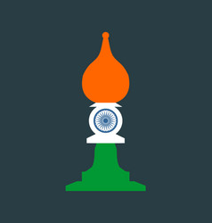chess knight figure indian flag vector image