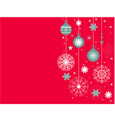 christmas background with red snowflakes place vector image