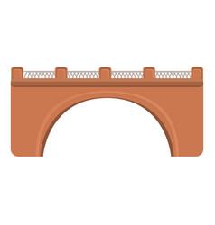 city bridge icon cartoon style vector image