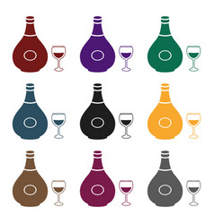 cognac icon in black style isolated on white vector image