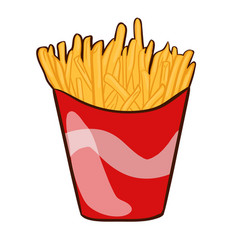 colorful french fries concept vector image