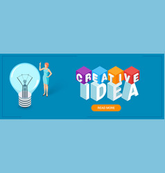 creative idea banner vector image