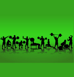 crowd athletes vector image